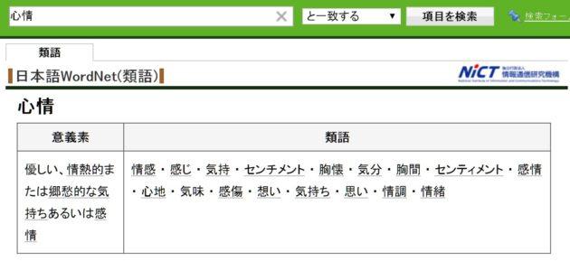 Webllio類語辞典